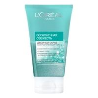L`OREAL Скраб для лица Бесконечная свежесть для нормальной и смешанной кожи 150 мл