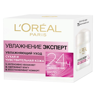 L`OREAL Увлажняющий уход Увлажнение Эксперт для сухой и чувствительной кожи 50 мл