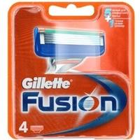 GILLETTE Сменные кассеты для бритвы Gillette Fusion 4 шт.