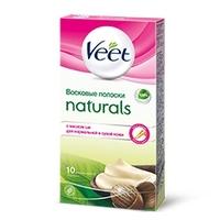 VEET Восковые полоски Naturals с маслом ши 10 шт.