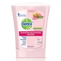 DETTOL Антибактериальное жидкое мыло для диспенсера No Touch с ароматом Розы и маслом ши (запасной блок) 250 мл (запасной блок)