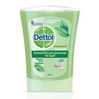 DETTOL Антибактериальное жидкое мыло для диспенсера No Touch с ароматом зеленого чая и имбиря (запасной блок) 250 мл (запасной блок)