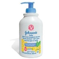 JOHNSONS BABY Детское жидкое мыло 2в1 для рук и тела Pure Protect 300 мл