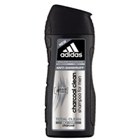 ADIDAS Шампунь для мужчин очищающий против перхоти Charcoal Clean 200 мл