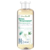 """GREEN MAMA Шампунь """"Фиторегенерация"""" от выпадения волос, с морскими водорослями 400 мл"""