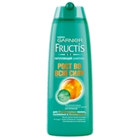 GARNIER Шампунь укрепляющий, для ослабленных волос, склонных к выпадению, Fructis Рост Во Всю Силу 400 мл