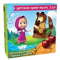 Маша и Медведь Детское крем-мыло Черешня и Печенька 2х42 г