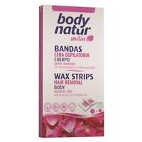 BODY NATUR Восковые полоски для тела для чувствительной кожи Плоды шиповника и Эфирное масло 16 шт. + 2 салфетки