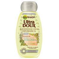 GARNIER Шампунь Ultra Doux для лишенных блеска волос - Розмарин и олива 400 мл