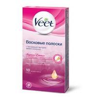 VEET Восковые полоски для депиляции с ароматом Бархатной розы и эфирными маслами 10 шт.