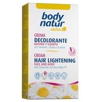 BODY NATUR Крем для обесцвечивания волос для лица и тела с Ромашкой и Маслом ши 2x50 мл