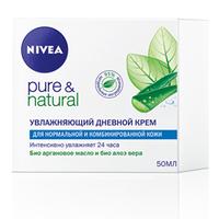 NIVEA Увлажняющий дневной крем Pure&Natural для нормальной и комбинированной кожи 50 мл