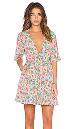 Платье солнцеклёш с короткими рукавами-доломан - Lucca Couture