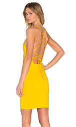 Мини платье с перекрестными шлейками сзади - Donna Mizani