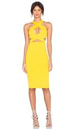 Миди платье с перекрестными шлейками спереди - Donna Mizani