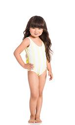 Слитный купальник sweetheart bow back - lolli swim