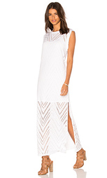 Перфорированное макси платье с переплетом - twenty