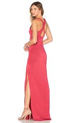 Макси платье с перекрестными шлейками на спине - krisa