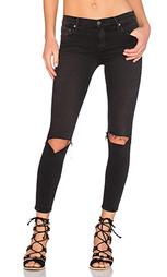 Супер узкие стрейчевые джинсы средней посадки candice - GRLFRND