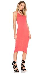 Облегающее платье из хлопка и джерси с y-шлейками сзади - Stateside