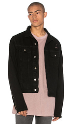 Джинсовая куртка с кожаными рукавами trucker - Mr. Completely