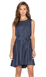 Джинсовое мини платье с поясом - kate spade new york