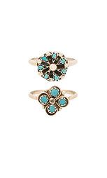 Набор колец cactus clover & mini blossom - Natalie B Jewelry