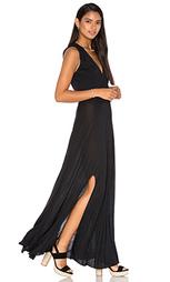Макси платье modal drape front - Haute Hippie