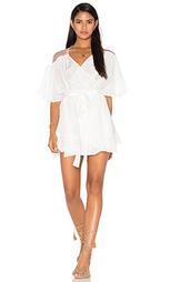 Платье с запахом и прозрачной вставкой сзади - Tessora