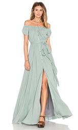 Макси платье с открытыми плечами - Mara Hoffman