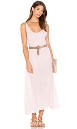 Макси платье с сеточными рукавами и широким вырезом - Bobi