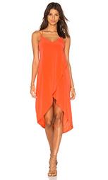 Миди платье с глубоким вырезом - Bella Luxx