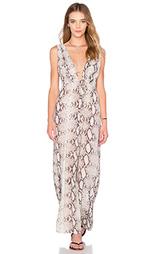 Макси платье с глубоким v-образным вырезом titanium - Indah