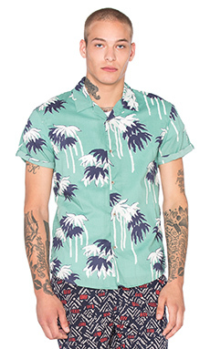 Рубашка с коротким рукавом all over printed shortsleeve shirt in hawaii styling - Scotch & Soda