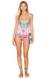 Сплошной купальник с перекрестными шлейками - Camilla