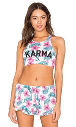 Топик с вшитым бюстгальтером и y-образные шлейки сзади karma - Spiritual Gangster