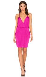 Облегающее платье из прозрачной джерси с v-образным вырезом luxe - Bobi