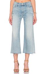 Укороченные джинсы the roller crop fray - MOTHER