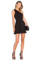 Платье с одним плечом zip me up - NBD
