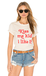Майка с вырезом под горло kiss me kid beau - MATE the Label