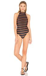 Сплошной купальник на шлейках с открыто спиной - Lenny Niemeyer