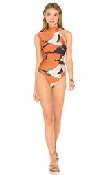 Сплошной купальник на одно плечо - Lenny Niemeyer