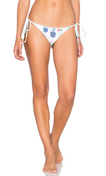 Плавки бикини с вышивкой и завязками по бокам pineapple - PILYQ