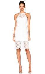 Кружевное платье с квадратным вырезом без рукавов - J.O.A.