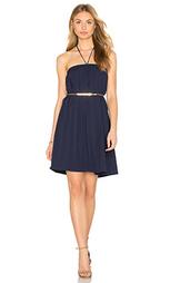 Льняное сеточное платье на бретельках - Lucca Couture