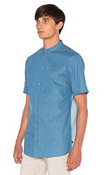 Джинсовая рубашка без воротника - I Love Ugly