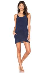 Шелковое мини платье с t-образной шлейкой сзади - Chaser