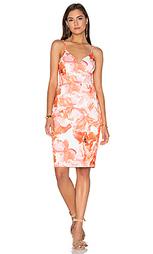 Миди платье с мраморными цветами - Lumier
