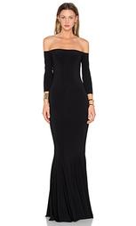 Платье с запахом и открытыми плечами - Norma Kamali