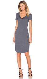 Платье на пуговицах из ткани в рубчик с коротким рукавом - MONROW